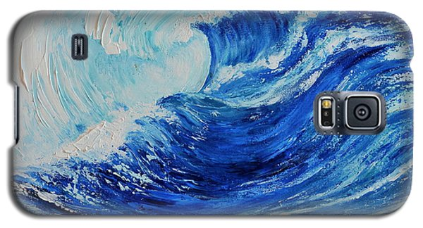 Galaxy S5 Case featuring the painting The Wave by Teresa Wegrzyn