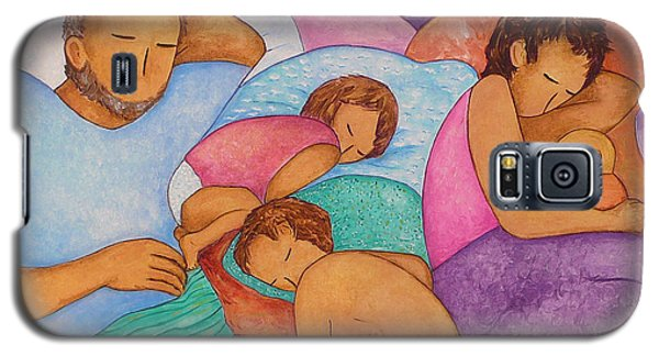 Galaxy S5 Case featuring the painting The Wendts Family Bed by Gioia Albano