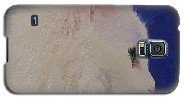 Galaxy S5 Case featuring the painting The White Cat by Jindra Noewi
