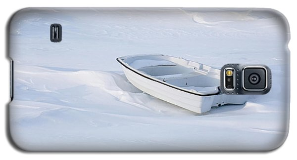 The White Fishing Boat Galaxy S5 Case by Nick Mares