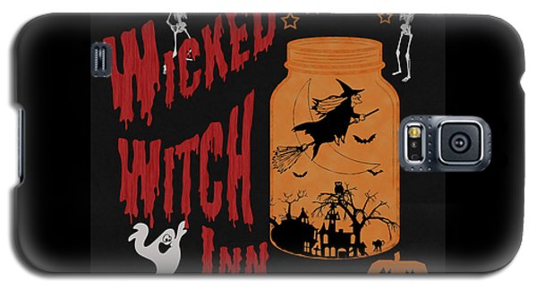 Galaxy S5 Case featuring the painting The Wicked Witch Inn by Georgeta Blanaru