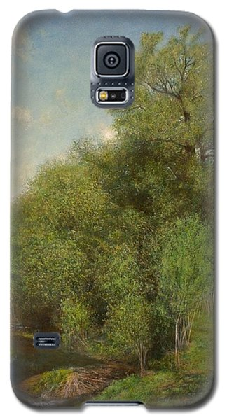 Galaxy S5 Case featuring the painting The Willow Patch by Wayne Daniels