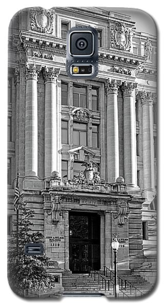 Galaxy S5 Case featuring the photograph The Wilson Building In Black And White by Greg Mimbs