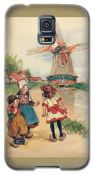 The Windmill And The Little Wooden Shoes Galaxy S5 Case by Reynold Jay