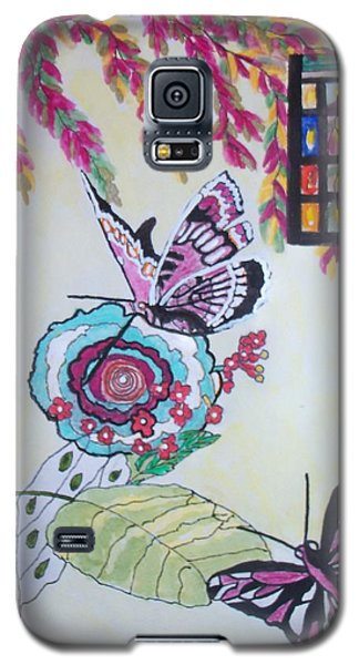 The Window To The Butterfly World Galaxy S5 Case by Connie Valasco