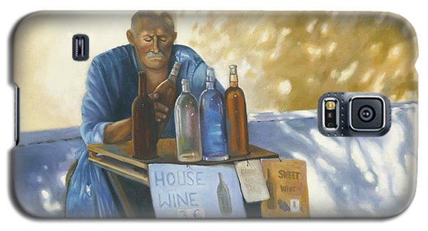 Galaxy S5 Case featuring the painting The Wineseller by Marlene Book
