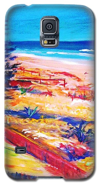 Galaxy S5 Case featuring the painting The Winter Dunes by Winsome Gunning