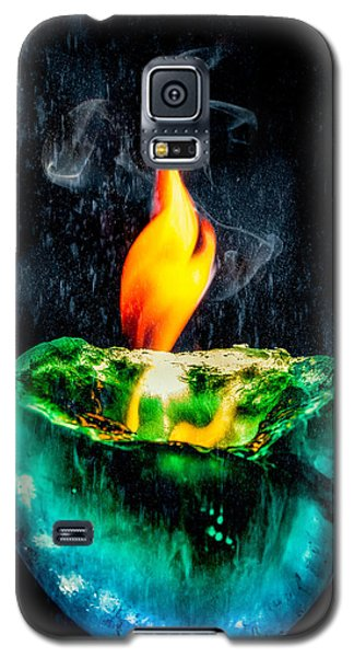 Galaxy S5 Case featuring the photograph The Winter Of Fire And Ice by Rikk Flohr