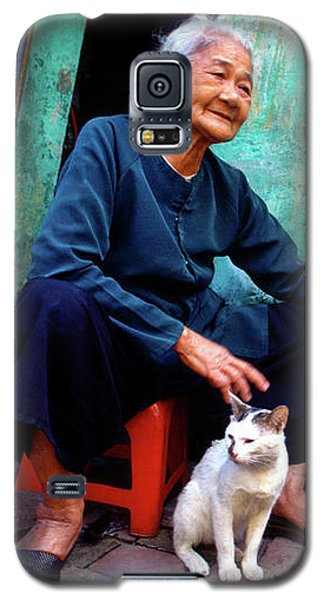 The Woman And The Cat Galaxy S5 Case