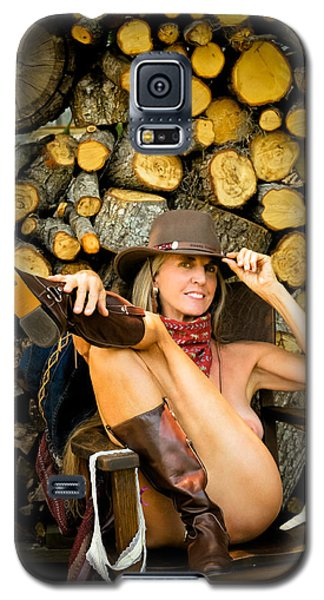 The Wood Pile Galaxy S5 Case by Nancy Taylor
