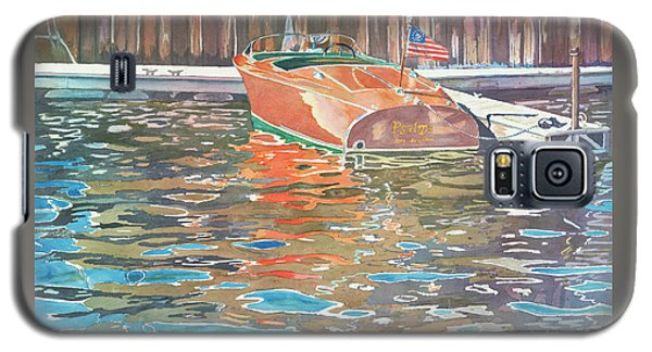 Galaxy S5 Case featuring the painting The Wooden Boat by LeAnne Sowa