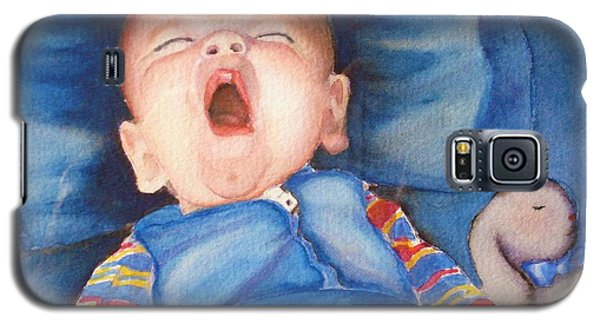 Galaxy S5 Case featuring the painting The Yawn by Marilyn Jacobson