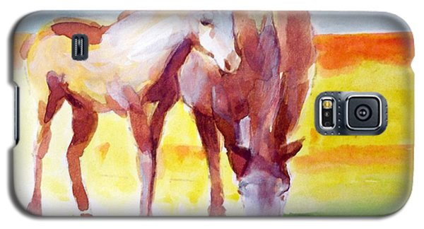 Galaxy S5 Case featuring the painting The Yearling by Ed  Heaton