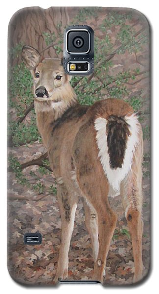 Galaxy S5 Case featuring the painting The Yearling by Sandra Chase