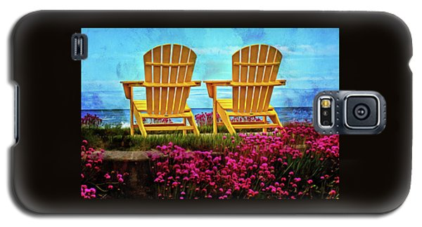 The Yellow Chairs By The Sea Galaxy S5 Case