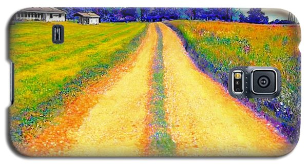 The Yellow Dirt Road Galaxy S5 Case by Jann Paxton