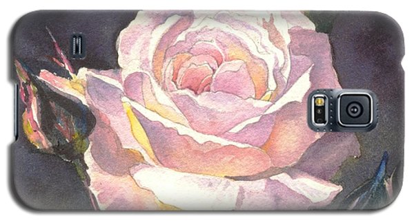 Galaxy S5 Case featuring the painting Thea's Rose by Sandra Phryce-Jones