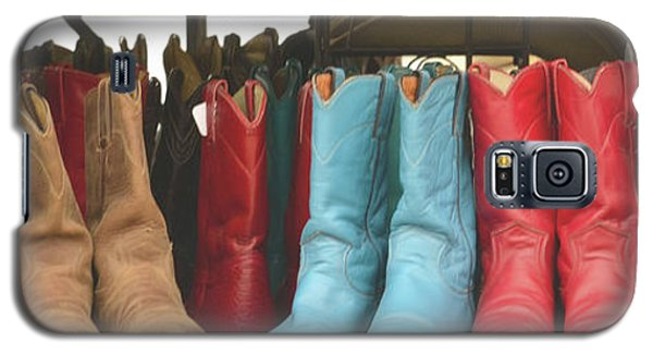 Them Boots, Turquoise And Red Galaxy S5 Case by Nadalyn Larsen