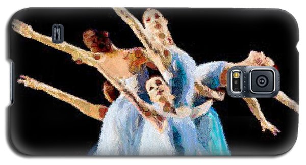 Galaxy S5 Case featuring the painting They Danced by Catherine Lott