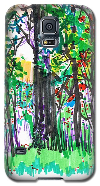 Galaxy S5 Case featuring the drawing Thicket by Seth Weaver