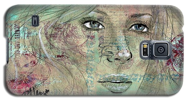 Galaxy S5 Case featuring the drawing Thinking Back by P J Lewis