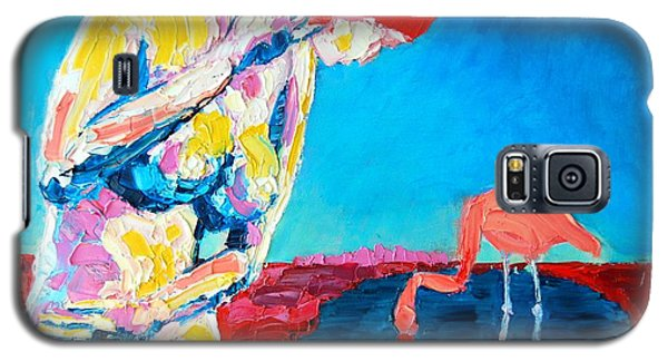 Galaxy S5 Case featuring the painting Thinking Woman by Ana Maria Edulescu