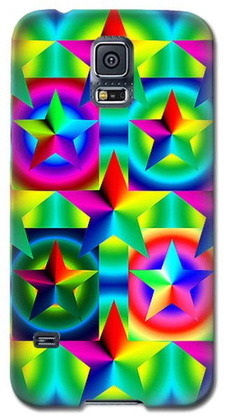 Thirteen Stars With Ring Gradients Galaxy S5 Case