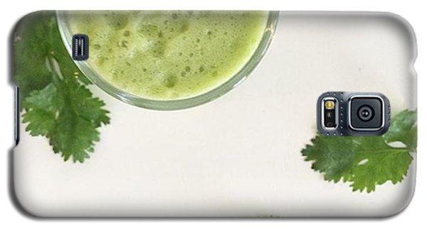 Music Galaxy S5 Case - This Cilantro-green Apple Mocktail Is by E M I L Y  B U R T O N