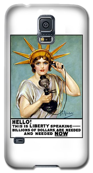 This Is Liberty Speaking - Ww1 Galaxy S5 Case by War Is Hell Store
