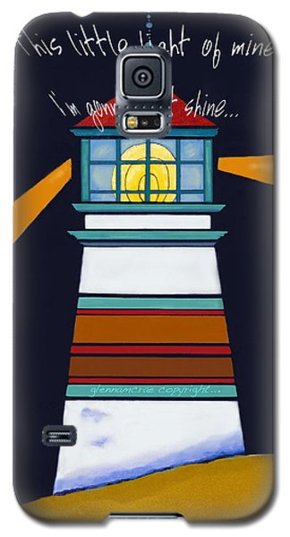 Galaxy S5 Case featuring the painting This Little Light Of Mine by Glenna McRae