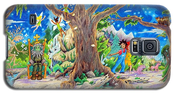 Galaxy S5 Case featuring the painting This Magical Land by Matt Konar