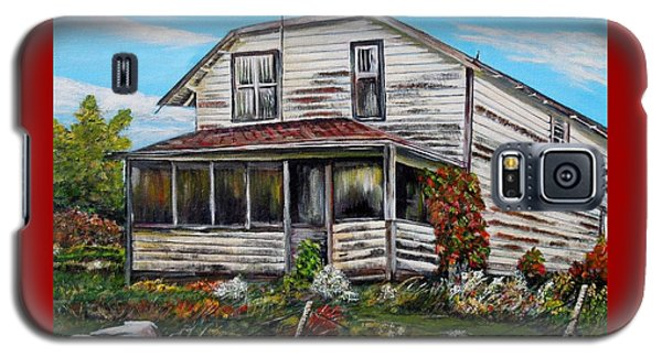 Galaxy S5 Case featuring the painting This Old House 2 by Marilyn  McNish