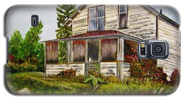 Galaxy S5 Case featuring the painting This Old House by Marilyn  McNish