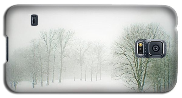 This Small Bridge, Located On A Golf Course, Always Provides A Scenic View. When A December Blizzard Galaxy S5 Case