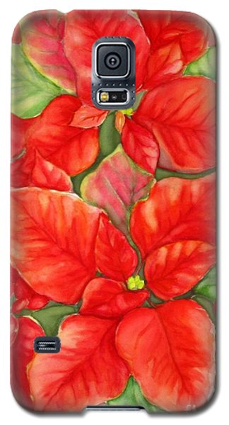 This Year's Poinsettia 1 Galaxy S5 Case by Inese Poga