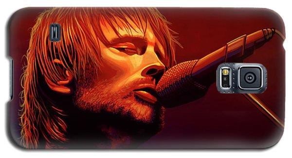 Drum Galaxy S5 Case - Thom Yorke Of Radiohead by Paul Meijering