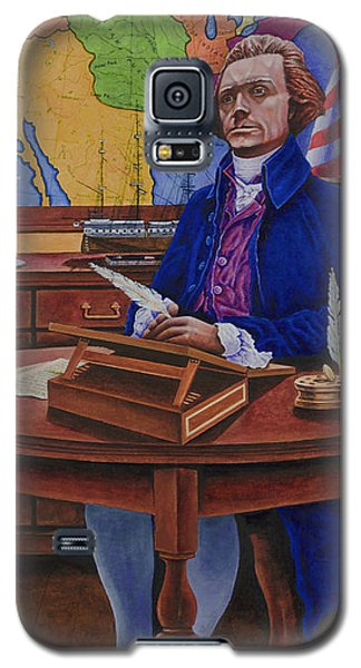 Galaxy S5 Case featuring the painting Thomas Jefferson by Michael Frank
