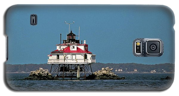 Thomas Point Shoal Light Galaxy S5 Case by Sally Weigand