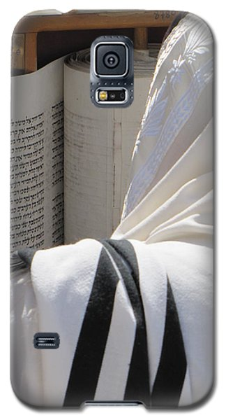 Galaxy S5 Case featuring the photograph Thora Reading At The Western Wall by Yoel Koskas