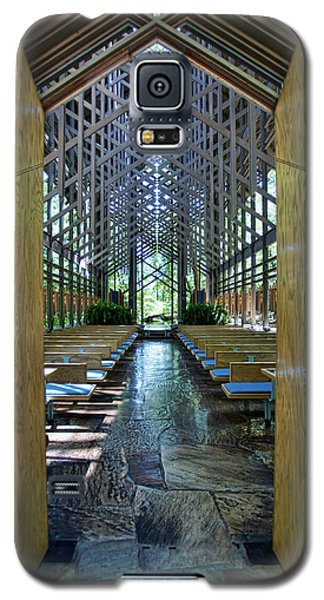 Galaxy S5 Case featuring the photograph Thorncrown Chapel Entrance by Cricket Hackmann