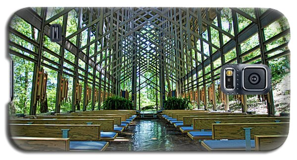 Galaxy S5 Case featuring the photograph Thorncrown Chapel Interior by Cricket Hackmann
