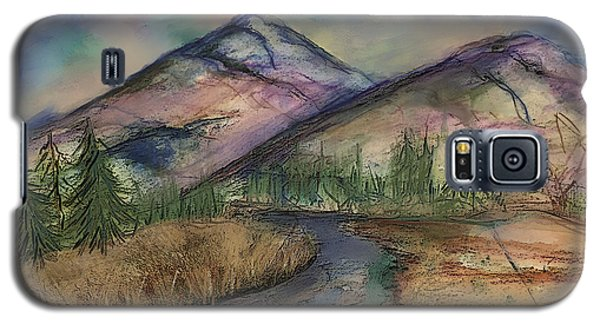 Galaxy S5 Case featuring the painting Thoughts Of Glacier by Annette Berglund