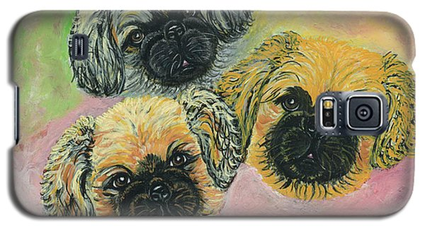 Galaxy S5 Case featuring the painting Three Amigos by Ania M Milo