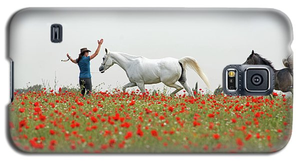 Three At The Poppies' Field Galaxy S5 Case