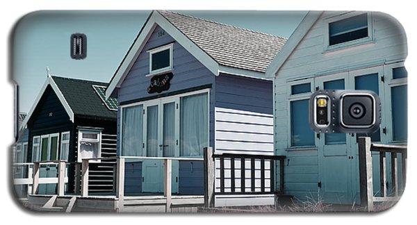 Three Beach Huts Blue Galaxy S5 Case