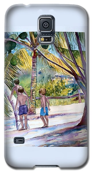 Three Boys Climbing Galaxy S5 Case