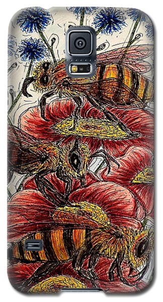 Three Busy Bees Galaxy S5 Case