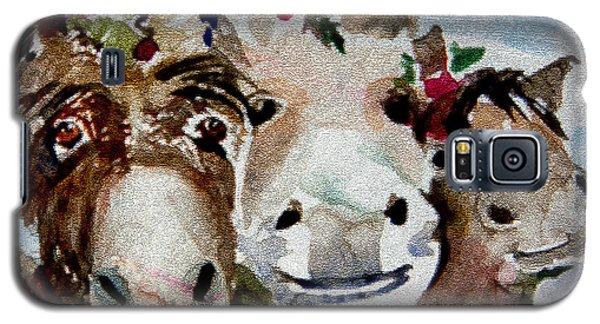 Three Christmas Donkeys Galaxy S5 Case