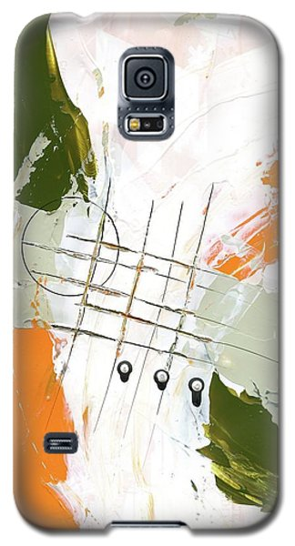 Galaxy S5 Case featuring the painting Three Color Palette Orange 3 by Michal Mitak Mahgerefteh