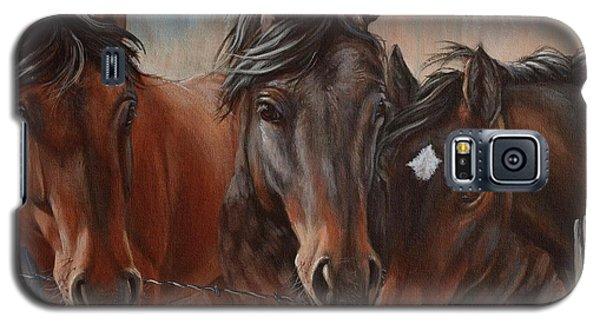 Three Curious Friends Galaxy S5 Case
